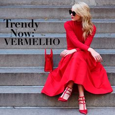 Trendy Now: Vermelho! #red #scarpin #totalred #atlanticpacific