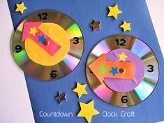 Countdown Clocks Craft - a great way for kids to learn time while getting excited for every hour that passes