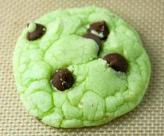 Mint Chocolate Chip Cake Mix Cookies