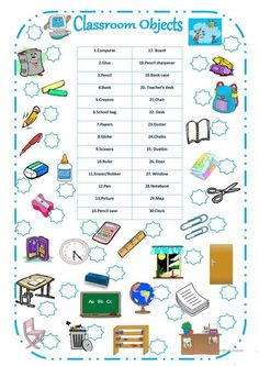CLASSROOM OBJECTS worksheet - Free ESL printable worksheets made by teachers