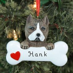 Personalized Puppy Ornaments