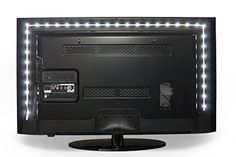 Vansky 80inch White Bias Lighting for HDTV USB Powered LED Strip Normal Bright White Backlight Kit for Flat Screen TV LCD, Desktop PC (Reduce eye fatigue and increase image clarity)  ALLEVIATES EYE-STRAIN -- Adds a Subtle Backlight to Your Monitor, Reducing the Eyestrain Caused by Differences In Picture Brightness From Scene to Scene In Movies, Shows and Games.  OPTIMAL VIEWING EXPERIENCE -- The Color and Brightness of the LEDs Are Carefully Calibrated, Making Blacks Blacker and Colors...