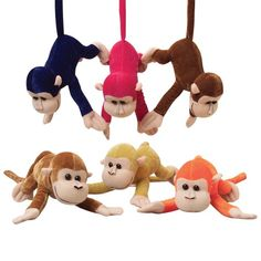 Plush Monkeys With Bendable Tails   Party Supply Store   Novelty Toys   Carnival Supplies   USToy.com