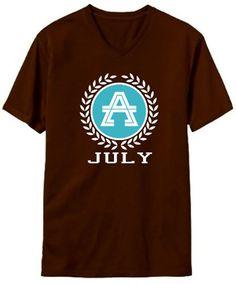 - Laurel Initial V-Neck T-Shirt
