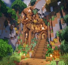 minecraft mountainside house - Explore the best and the special ideas about Minecraft Buildings Villa Minecraft, Plans Minecraft, Architecture Minecraft, Casa Medieval Minecraft, Art Minecraft, Minecraft Building Guide, Minecraft Structures, Minecraft Houses Survival, Minecraft Cottage