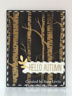 Cheer All Year and the Woodland embossing folder - a simple, elegant card from theartfulinker.com