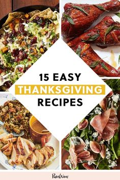 15 Easy Thanksgiving Recipes for Stressed-Out Hosts - Foodie - Thanskgiving Easy Thanksgiving Recipes, Vegetarian Thanksgiving, Hosting Thanksgiving, Thanksgiving Leftovers, Family Thanksgiving, Roasted Turkey Legs, Appetizer Recipes, Appetizers, Cheesy Recipes