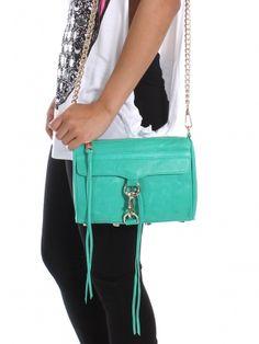 Green Mini Mac Clutch by @RebeccaMinkoff. Want want want want want.  Yeah I already own 2, SO WHAT?