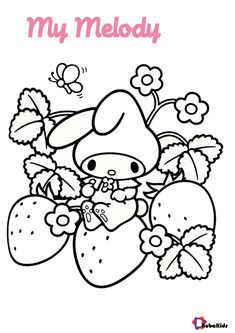 My Melody is a Hello Kitty friend. This sanrio characters are very cute and loved by children all over the world. My Melody coloring page. Collection of cartoon coloring pages for teenage printable that you can download and print. #AdorablePictureOfMyMelody, #HelloKitty, #MyMelody, #Sanrio #AdorablePictureOfMyMelody, #HelloKitty, #MyMelody, #Sanrio