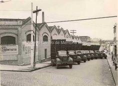 Fotografia da fachada do Depósito da S.A. Moinho 1905 Santista