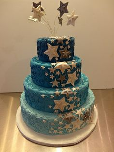 Starry Wedding Cake