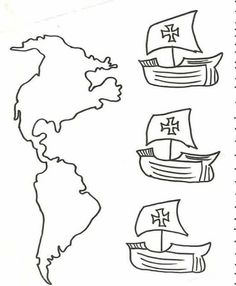Elfy i wróżki Ludi: Columbus Day Más Columbus Day, Christopher Columbus, Teachers' Day, Practical Gifts, Teaching Spanish, Teaching Tools, Coloring Pages For Kids, Preschool Crafts, Kids Crafts