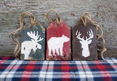 Moose Deer Bear Wood Tags