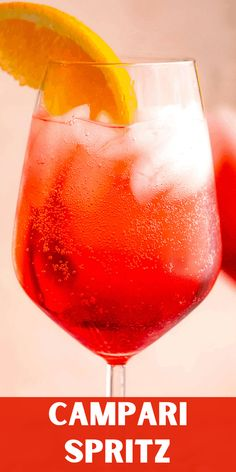 With just 3 ingredients, Campari Spritz is a bold and refreshing cocktail that comes together in just 5 minutes. Perfect for summer! Refreshing Summer Cocktails, Sweet Cocktails, Easy Cocktails, Fun Drinks, Cocktail Recipes, Drink Recipes, Beverages, Mimosa Brunch, Palate Cleanser