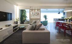 Apartamento clean com Piso de Cimento Queimado