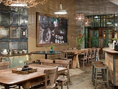 Seattle's 15th Ave Coffee and Tea House Is a Rustic Eco-Chic S... (We like the counter)