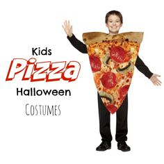 Kids Pizza Halloween Costumes are so cool!  My boys love #pizza #halloweencostumes because its their favorite food too.  You can buy one or make your own (I'm talking about the costume, not the pizza) #boyscostumes
