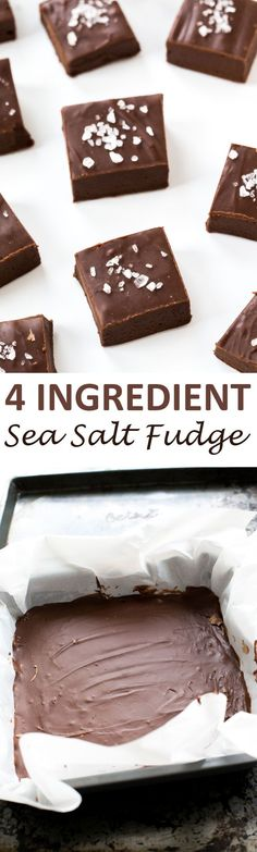 4 Ingredient Fudge with Sea Salt