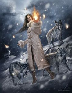 Marilena Mexi, Girl with Wolves