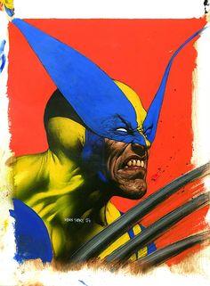 """comicskingdom: """" Wolverine Art By: Glen Fabry """""""