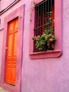 roze & oranje