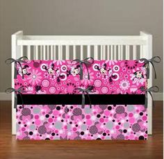 Minnie Mouse Pink Crib Bedding  Nursery Decor 3 by flashybaby