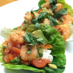 """""""#Leanin15 snack time! Chilli prawn lettuce boats with cottage cheese & fresh basil! Quick simple & super lean! #teamlean2014 #thebodycoach…"""""""