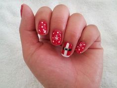 christmas nail art designs Christmas Gel Nails – The Flexibility christmas manicure ideas Christmas Gel Nails, Christmas Nail Art Designs, Christmas Holiday, Holiday Ideas, Santa Nails, Accent Nails, Nail Spa, Mani Pedi, Nails Inspiration