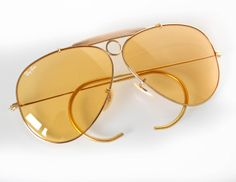 a5c54106e2 Vintage B L Ray-Ban Ambermatic Bullet-Hole Shooter Aviator Sunglasses 62mm  Cheap Ray Ban