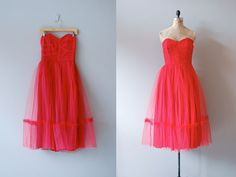 1950s dress / 50s party dress / Fools Rush In by DearGolden, $240.00