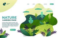 Flat nature landing page template Free V. Design Sites, Web Design Trends, Event Poster Design, Leaflet Design, Flat Design Illustration, Nature Posters, Design Typography, Portfolio Web Design, Vintage Poster