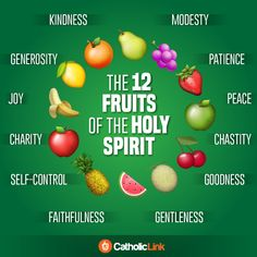 Catholic-Link's Library - Infographic: The 12 fruits of the Holy Spirit