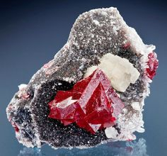 Cinnabar with Dolomite and Quartz from China