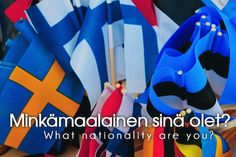 What nationality are you? Learn Finnish, Finnish Words, Finnish Language, Language Study, Study Notes, Vocabulary, Learning, Marimekko, Languages