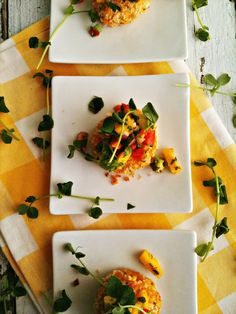 Curried Crab Cakes with Mango Avocado Salsa by sweetsugarbean #Appetizer #Crab_Cake #Mago #Avocado