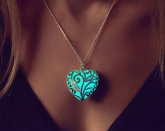PRE ORDER Glowing Necklace Gift Steampunk Jewellery by EpicGlows