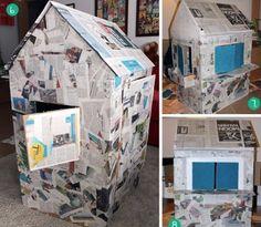 Cómo hacer la mejor casita de cartón para niños paso a paso