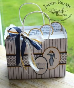 Simple but striking card organizer made using a paper bag.