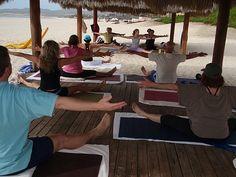 Yoga at Zoetry Casa Del Mar in Los Cabos.  http://visitloscabos.travel/ #Yoga #Cabo #Beach #Vacation  Photo from fitnessprotravel.com