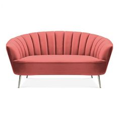 Products Bonnie 2 Seater Loveseat Sofa, Velvet , Coral There are some other tricks of the painted fu Sofa Design, Interior Design, Unfinished Furniture, Loveseat Sofa, Couches, Contemporary Wall Decor, Art Deco, Sofa Sale, Velvet Sofa