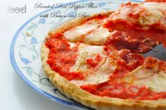 Simple Food: Roasted Red Pepper Flan with Bacon and Brie