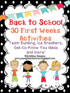 Great activities for the ENTIRE year! Brain breaks, team building, get to know you ideas, and more! Great for all year long! I use then after a school break or when students need a quick brain break!$
