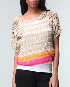 Hairpin lace sweater