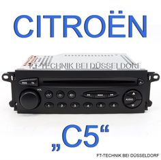 Original Citroen CD Radio, FREIGESCHALTET!!! Das Radio ist passend für:  Citroen C5 Modelle 2000 bis 2004 (Vorfacelift) Bei uns im Shop!