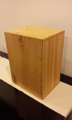 IKEA Hackers: a cajon made out of a fourteen-dollar RAST nightstand!!!