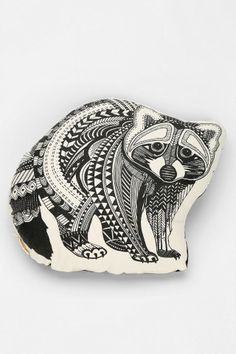 The Rise And Fall Raccoon Pillow