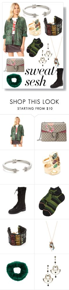 """""""Fashion has to reflect you"""" by emmamegan-5678 ❤ liked on Polyvore featuring Free People, Gucci, Vita Fede, Alexis Bittar, Dolce Vita, Stance, Lulu Frost, Chan Luu, Yves Salomon and Ben-Amun"""