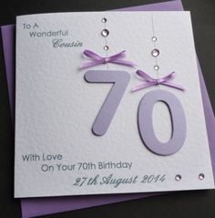 Handmade-Personalised-Lilac-50th-60th-70th-80-th-90th-Any-Age-Birthday-Card