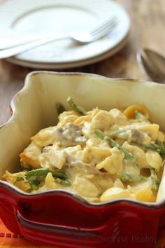 Slow Cooker Cheesy Chicken Asparagus Casserole|Craving Something Healthy Lightened up Comfort Food!
