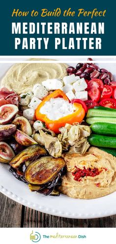 It's not hard to put together the perfect Mediterranean Mezze Platter with dips like hummus or baba ganoush, along with fresh veggies and other Mediterranean favorites. It makes a great addition to your Thanksgiving or Christmas gatherings with friends and family. #partyplatter #holidayappetizers #mediterraneanmezzeplatter Easy Mediterranean Recipes, Mediterranean Breakfast, Mediterranean Dishes, Holiday Appetizers, Appetizer Recipes, Healthy Thanksgiving Recipes, Party Platters, Healthy Slow Cooker, Appetisers